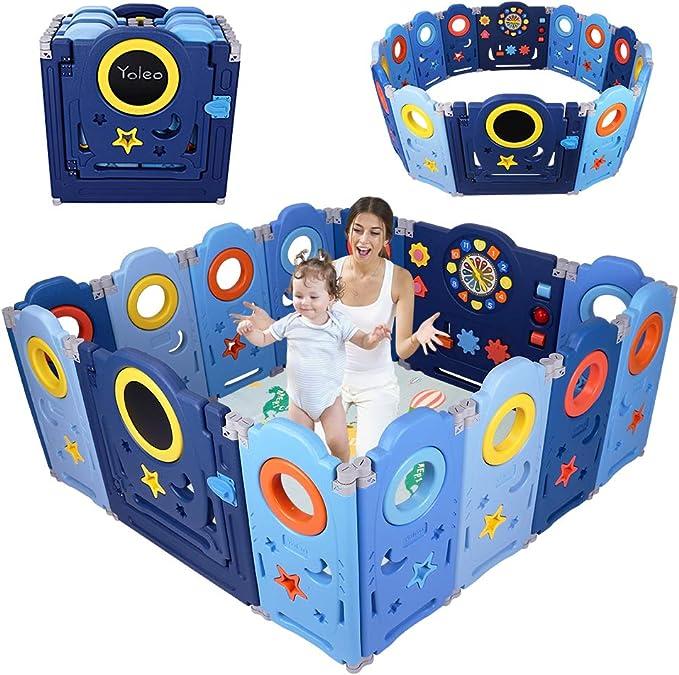 99 opinioni per YOLEO Box Bambini, Recinto per Bambini Pieghevole, Box Neonato Protezione 14