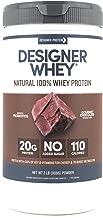 Designer Whey Protein Powder, Gourmet Chocolate, 2 Pound, Non GMO