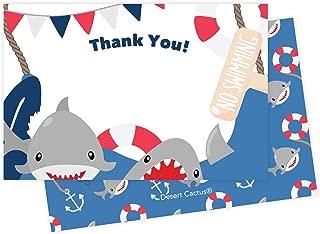 baby shark thank you card