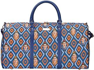 Signare Tapestry Large Duffle Bag Overnight Bags Weekend Bag for Women with Frida Kahlo Design
