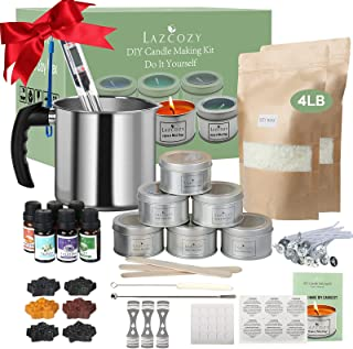 Candle Making Kit Supplies, Soy Wax DIY Candle Craft Tools Including Candle Make Pouring Pot, Candle Wicks, Wicks Sticker,...