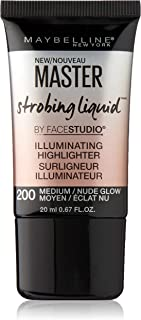 Maybelline New York Master Strobing Liquid Illuminating Highlighter, Medium/Nude Glow, 0.67 fl. oz.