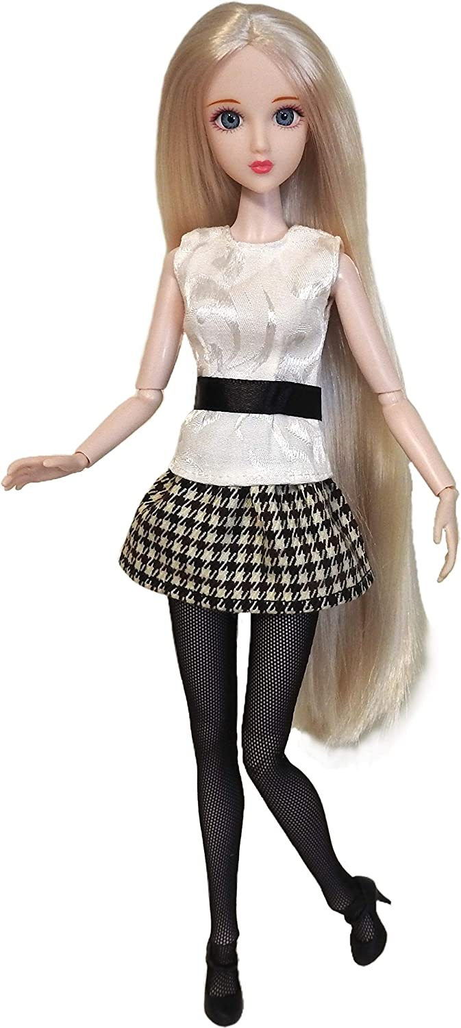 """Eledoll Alice Doll in Black High Max 71% OFF quality new White Fashion 12"""" J BJD Posable"""