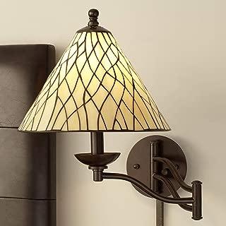 Robert Louis Tiffany Iron Vine Swing Arm Wall Lamp - Robert Louis Tiffany