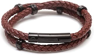 Best pandora brown double leather bracelet Reviews