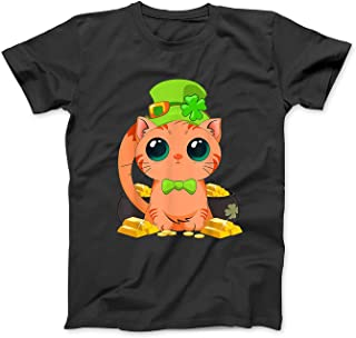 Kitty Cat Saint Patrick's Day Gift Lucky Shamrock Leaf T-Shirt