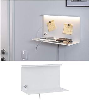 Paulmann 78916 Jarina - Lámpara de pared LED con estante, incluye 1 bombilla de 4,5 W, regulable, lámpara de lectura, lámpara de lectura de metal, 3000 K, 4,5 W