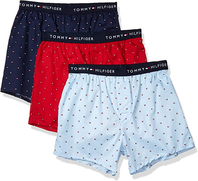 TROIS blanc 3 Pack taille M Tommy Hilfiger Homme Coton Tissé boxers