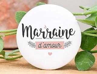Badge marraine d'amour | Manahia | badge baptême - demande marraine - annonce naissance
