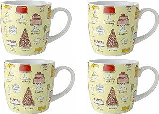 Now Designs Bake a Cake Mugs, Set of 4