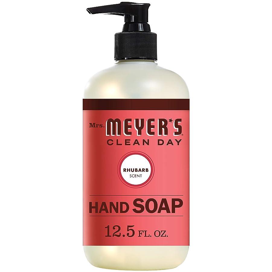 バーター水星言及するMrs. Meyers Clean Day, Liquid Hand Soap, Rhubarb Scent, 12.5 fl oz (370 ml)