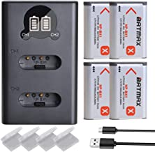 Sponsored Ad - Batmax 4Pcs NP-BX1 Battery + LCD Dual USB Charger with Type C Port for Sony Cyber-Shot DSC-RX100, RX100 II,...