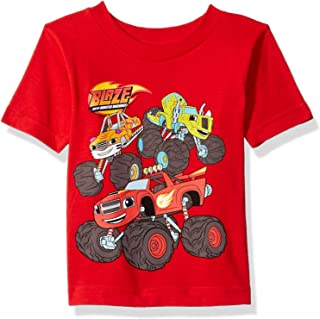 Blaze and the Monster Machines Boy's Blaze & the Monster Machines, Stripes, Pickle S/S Tshirt T-Shirt