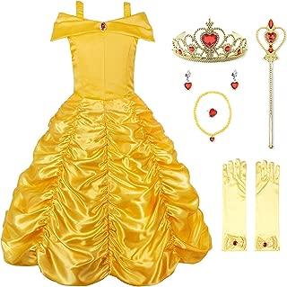 Princess Dress Off Shoulder Layered Costume for Little Girl