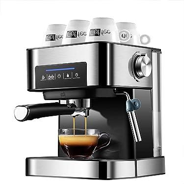 leader Kaffeevollautomat Mit Milchsystem, Cappuccino Und Espresso Auf Knopfdruck, Touchscreen Display Und App-Steuerung, Edelstahlgehäuse