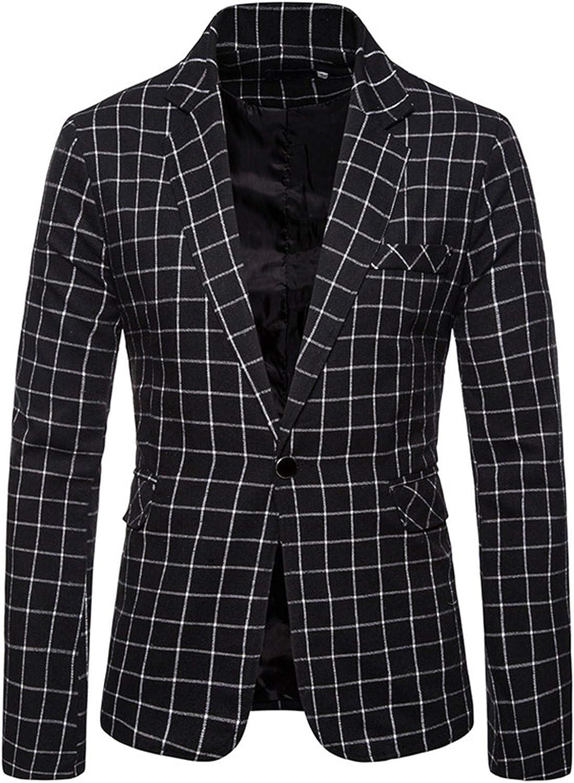 Big Plaid Suit Coat Men Blazer Casual Slim Fit Suit Jacket Business Checked Dress Coat Suits Blazer Jacket