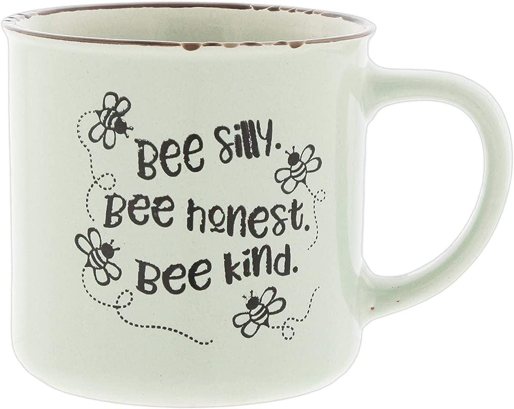 Bee Silly Bee Honest Bee Kind Novelty Ceramic Mug Holds 18 Ounces