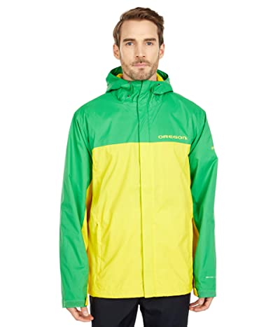 Columbia College Oregon Ducks Glennaker Stormtm Jacket (Fuse Green/Yellow Glow) Men