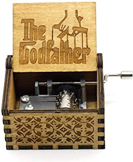Mini Music Box Crank The Gadfather Music Box Sacred Set Musical Box Kids Mechanical Carving Dad Gives Daughter a Gift Box 16