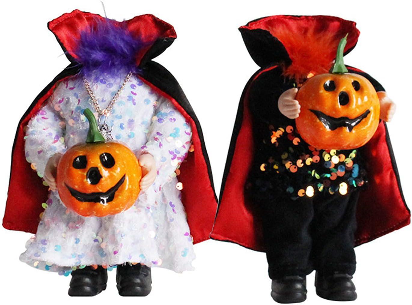 2 Pcs Halloween Gnomes Plush Reservation Handmade Direct stock discount Table Decor Pumpkin H Doll