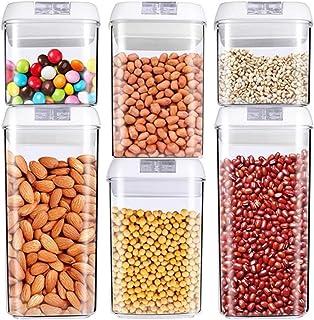 Cuisine Organisateur Céréales Stockage Jars, grande capacité de stockage des aliments Airtight Container Cuisine Stockage ...