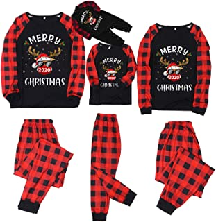 PowerFul-LOT® Family MatchingChristmas Pajamas Set Print Blouse Tops and Pants Family Clothes Pajamas for Women MenKid Baby