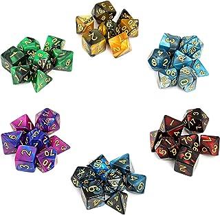GWHOLE 多面体サイコロ アクリル ダイス 6色 7サイズ 42枚入れクトゥルフ神話TRPG カードゲーム 知育 教育などに