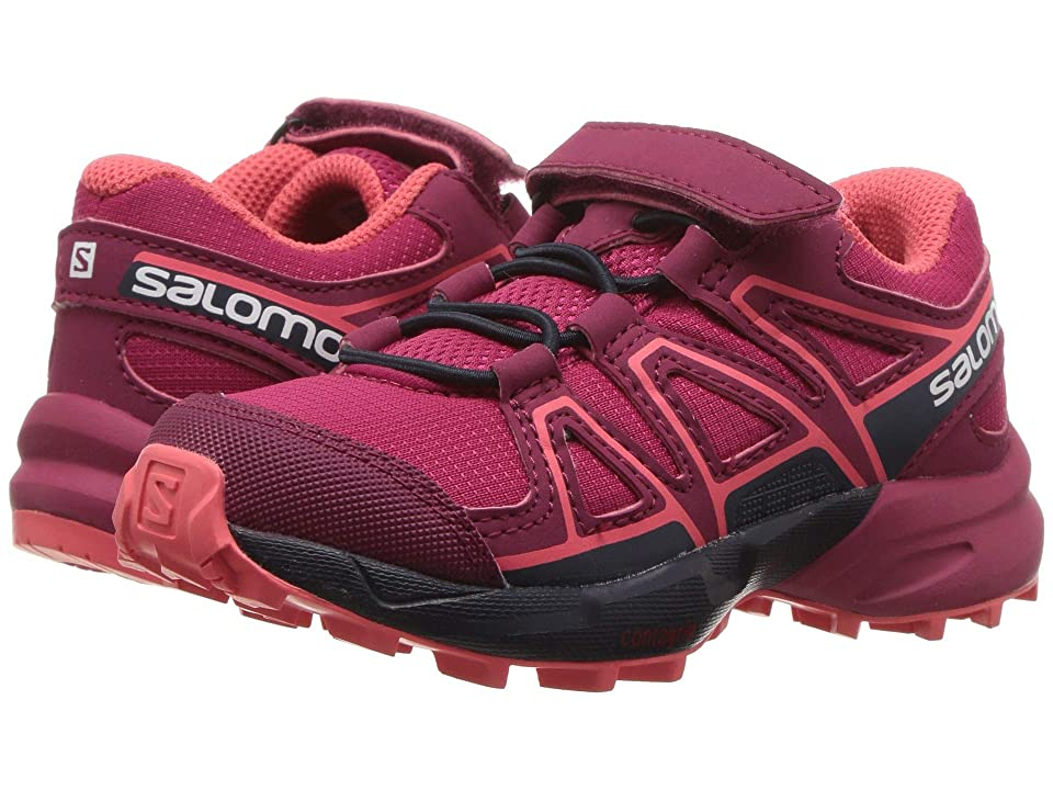 Salomon Kids Speedcross Bungee (Toddler/Little Kid) (Cerise/Navy Blazer/Dubarry) Girls Shoes