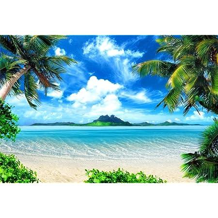 FUERMOR Summer Beach Photography Backdrop Hawaii Seaside Starfish Summer Party Photo Background Baby Shower Video Studio Photo Backdrop 7x5ft BJSYFU185