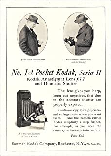 RelicPaper 1925 Kodak No. 1A Pocket Series II: Lens Gives You Sharp, Eastman Kodak Print Ad