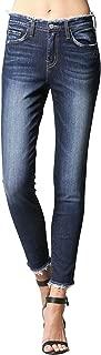 Love Spell Distressed Waist Raw Hem High Rise Skinny Jeans Y2662