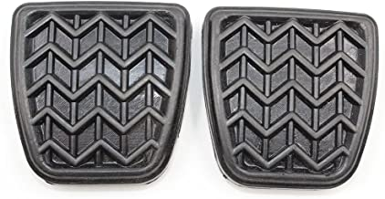 Koauto 2 Pcs Cluth Or Brake Pedal Pad Black Rubber For Toyota Scion 31321-52010