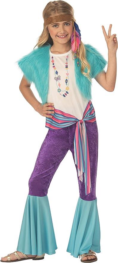 60s 70s Kids Costumes & Clothing Girls & Boys Rubies Kids Hippy Girl Costume  AT vintagedancer.com