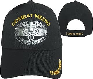 Combat Medic Cap Black U.S. Army Embroidered Military Hat