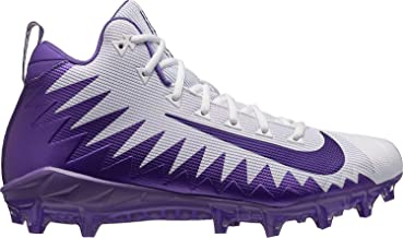 Nike Alpha Menace Pro Mid Mens Football Cleats (10 D (M) US, White/Purple)