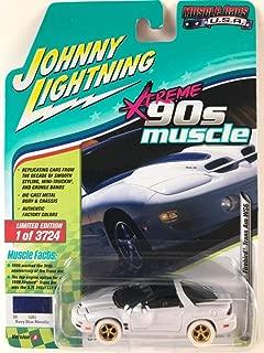 1999 Pontiac Firebird Trans Am WS6 Dark Blue Metallic 90's Muscle Limited Edition to 3,724 Pieces Worldwide 1/64 Diecast Model Car by Johnny Lightning JLMC014/ JLSP028 A