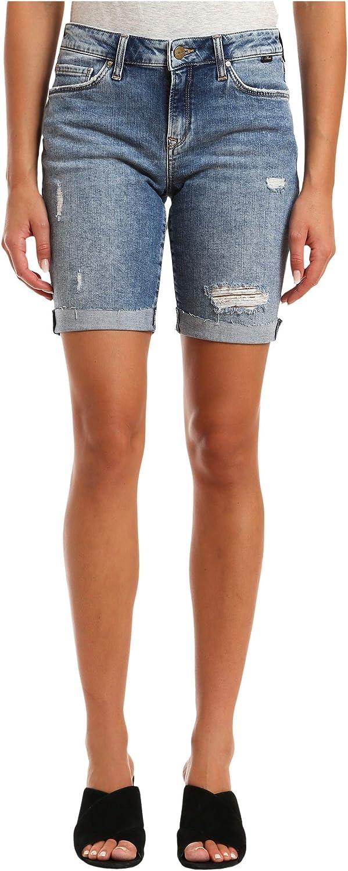 Mavi Women's Alexis Mid Rise Bermuda Denim Shorts