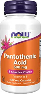 NOW Supplements, Pantothenic Acid (Vitamin B-5) 500 mg, B-Complex Vitamin, 100 Capsules