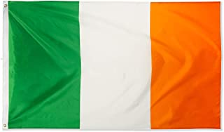 DANF Ireland Flag 3x5 Foot Irish National Flags Polyester with Brass Grommets 3 X 5 Ft