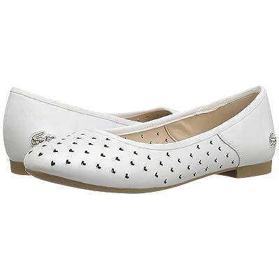 Lacoste Kids Misselle Slip 117 1 SP17 (Little Kid) (White) Girls Shoes
