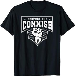 Funny Fantasy Football Respect The Commish Shirt Draft Gift
