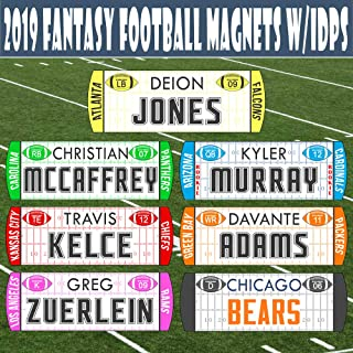 TheDraftParty Fantasy Football Draft Player Names - New 2019/20 W/Individual Defensive Players/Magnetic/Movable - Use with TheDraftParty Fantasy Draft Board