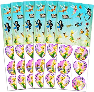 Disney Fairies Tinkerbell Stickers and Tattoos Party Favors Pack - 150 Stickers and 72 Tattoos