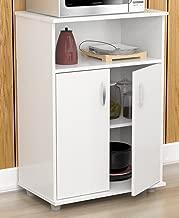 Inval Stationary Kitchen Carts, Laricina-white