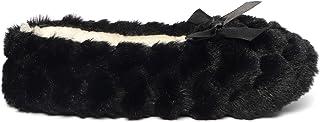 Zylioo Womens Fuzzy Bow Grip Slippers Plush Winter Warm Ballerina House Slipper Socks Soft Cute Indoor Slippers
