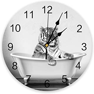 Infinidesign Animals PVC Wall Clock, Silent Non-Ticking Battery Operated Clocks, Round Clock for Home Office School Kitche...