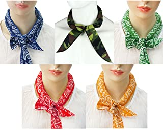 Pack of 5, The Elixir Ice Cool Scarf Neck Wrap Headband Bandana Cooling Scarf, 5 Pcs Value Pack (Camouflage, Black, Blue, Orange, Red, Green)