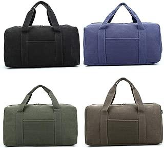 Duffel Bag,Canvas Tote, Travel Tote, 27 * 27 * 47CM, Classic Dark Green, Waterproof, Portable, Large Capacity, Travel Essentials (Color : Brown)