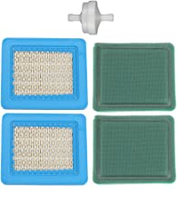 Harbot (Pack of 2 491588 491588S Air Filter with 491435 493537 Pre-Filter for Briggs & Stratton 399959 5043H 5043B 5043D 5043K 5043