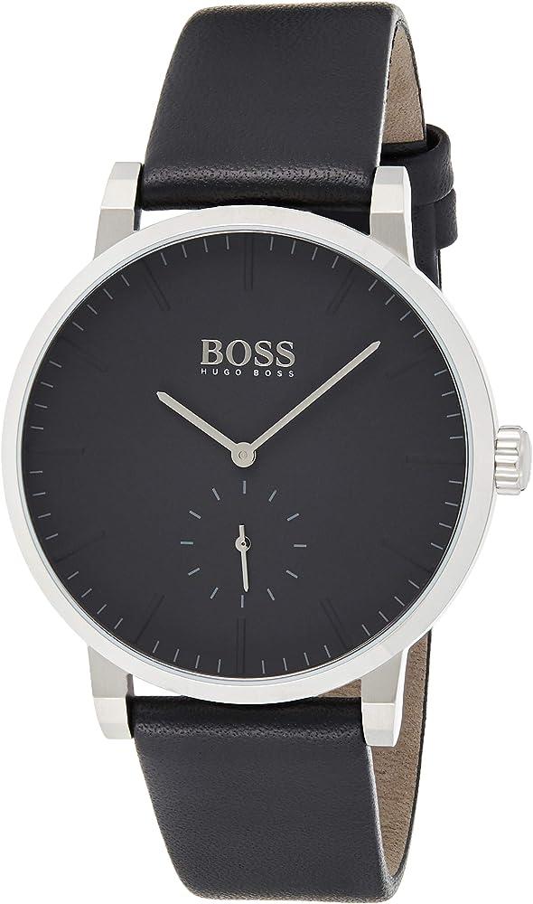 Hugo boss orologio uomo con cinturino in pelle 1513500
